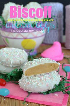 Biscoff Cream Eggs | Inside BruCrew Life - these are the perfect Easter basket treat for anyone who can't have nuts #Biscoff #Easter