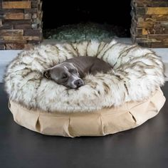 Animals Matter® Faux Fur Shag Puff™ Luxury Dog Bed