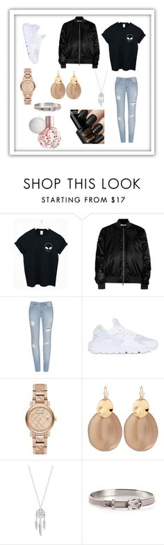 """Luna"" by bexie16 on Polyvore featuring WithChic, Givenchy, NIKE, Burberry, Alexis Bittar, Lucky Brand and Hermès"