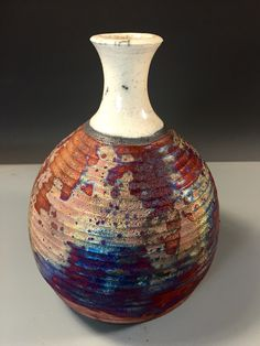Raku bottle by Nita Claise www.NitaClaise.com