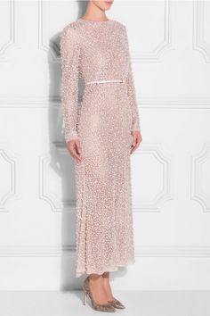 Elie Saab Pearl Beaded Dress
