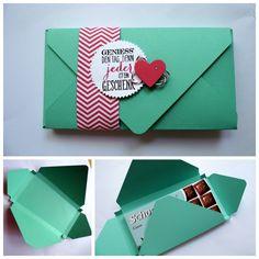 Envelope Punch Board  Schokoladen Verpackung