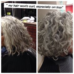 That's why I was careful not to cut too much before our cleanse and set. Sure did curl!