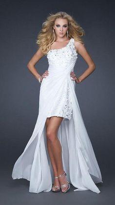 La Femme Gigi GiGi - Ethereal Floral Appliqued Asymmetrical A-Line Gown 17218 Prom Dresses 2015, Cute Dresses, Evening Dresses, Awesome Dresses, Formal Dresses, A Line Gown, Dress And Heels, Ethereal, Chiffon