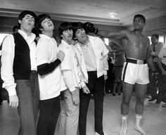 #TheBeatles and Muhammed Ali (Unknow artist)