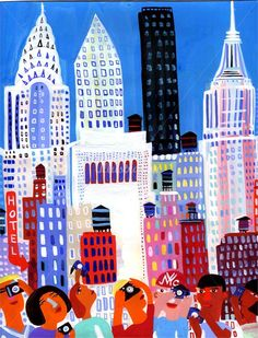 Illustrator Christopher Corr. New York never looked so happy