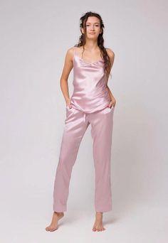 Silk Sleepwear for Women Long silk pajama set Silk top Silk pants Natural silk  pajamas Silk pyjama Silk sleepwear Bridal sleepwear Gift For Her Gift for  ... ff81711dd