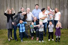 goofy family photography, large group family photos, rustic farm photography