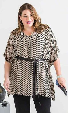 Ritz Sheer Tunic / MiB Plus Size Fashion for Women