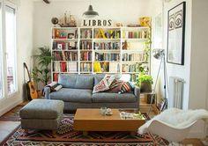 Shelves for weird half wall