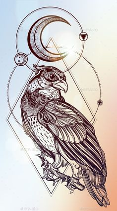 love2bthings — Detailed Hand Drawn Bird Of Prey. (Tattoos)