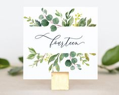 Great Ideas To Help Make Your Wedding Day Perfect! Wedding Table Number Holders, Wedding Table Decorations, Wedding Table Numbers, Wedding Centerpieces, Green Wedding, Floral Wedding, Wedding Day, Wedding Reception, Wedding Stuff