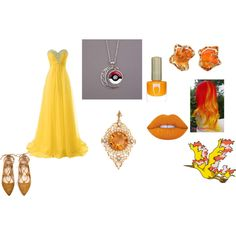 moltres cosplay idea by katie-lutz on Polyvore featuring Lime Crime and Radstudio!