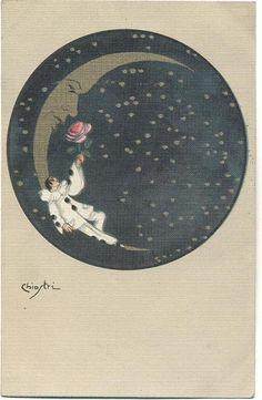 Sofia Chiostri Vintage Italian Pierrot Postcard