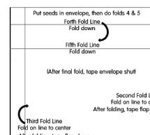 Make These Blank, Easily Decorated Envelope Templates Your Next Crafts Project: Easy Fold Seed Envelope