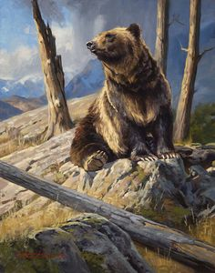 The Art of Dustin Van Wechel is an online gallery showcasing the work of award-winning American artist, Dustin Van Wechel. Wildlife Paintings, Wildlife Art, Animal Paintings, Bigfoot Photos, Cowboy Artwork, Hunting Art, Bear Drawing, Bear Pictures, Prehistoric Animals