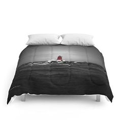 Society6 Lighthouse Glow Comforters Queen: 88 -  I like this black and white duvet color as I love black and white bedding especially in and black and white  home decor bedroom theme.