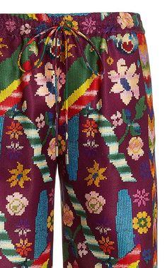 Davis Printed Silk Straight-Leg Pants By Gabriela Hearst   Moda Operandi Fashion Textiles, Gabriela Hearst, Printed Silk, Straight Leg Pants, Legs, Swimwear, Prints, Fashion Design, Collection