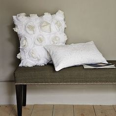 nail heads/white pillow