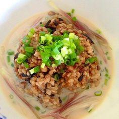 大豆のゆで汁があまりに美味しかったので、昆布ご飯を合わせたら‥冷や汁ご飯が出来ました^ ^ - 15件のもぐもぐ - 豆乳冷や汁 by megmorisaki1