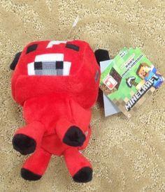 Minecraft Overworld Baby Mooshroom Plush Doll Bean Toy Mojang Oficially Licensed