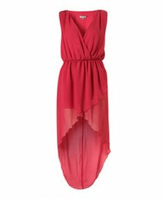 High Waist and V-neckline Sleeveless Chiffon Dress with Cross High Low Hem