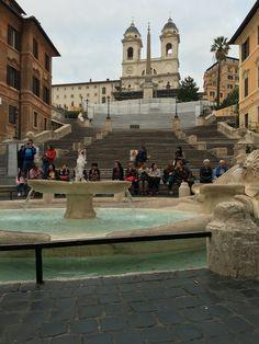 Spanish steps still under construction :(, Rome Italy