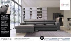 DIALOGA CON IL #COMFORT Questo è un divano che, una volta seduto, ti comunica tutta la qualità delle cose ben costruite e la certezza di un relax assoluto, grazie al suo poggiatesta inclinabile in 15 diverse posizioni. In questa foto: Divano con chaise longue