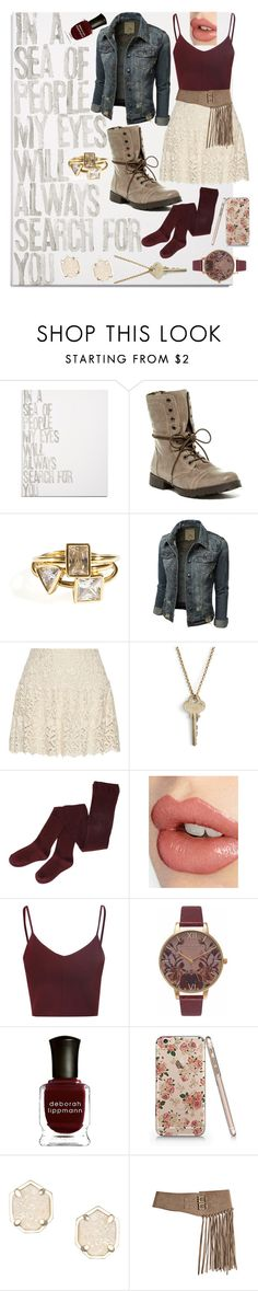 """Untitled #136"" by bubbles6706 ❤ liked on Polyvore featuring Canton Box Co., Steve Madden, Alice + Olivia, The Giving Keys, Charlotte Tilbury, Glamorous, Olivia Burton, Deborah Lippmann, Kendra Scott and Bergè"