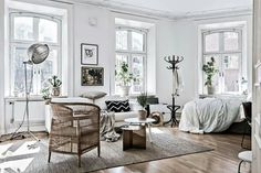 Home Decor – Bedrooms : Scandinavian white studio apartment -Read More –