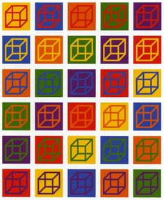 Sol LeWitt. Cubes in Color on Color. 2003.