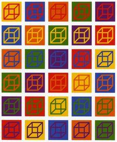Sol leWitt  Sol LeWitt. Cubes in Color on Color. 2003. Portfolio of 30 linoleum cuts