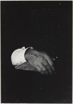 Alfred Stieglitz-Hands-II (Variant II); Dorothy S. Norman (American, 1905 - 1997); United States; 1935; Gelatin silver print; 9.8 x 7 cm (3 7/8 x 2 3/4 in.); 97.XM.78.13; Bequest of Dorothy S. Norman; Copyright: © J. Paul Getty Trust