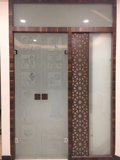 Pooja room door design cnc new ideas Living Room Tv Unit Designs, Living Room Wall Units, Tv Wall Design, Ceiling Design, Window Design, Mandir Design, Pooja Room Door Design, Double Doors Interior, Puja Room