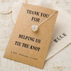 Thank You Bridesmaid Knot Necklace - Wue