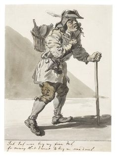 """""""The Ink Seller"""" by Paul Sandby, 1759. Museum of London, Accession #002159."""