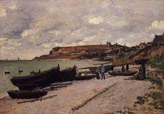 Claude Monet - Sainte-Adresse, Bateaux de pêche sur la Côte