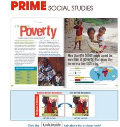 Prime Social Studies  18 Differentiated Text Pairs make grade-level Social Studies content accessible to ALL middle and high school students.    Increase students' understanding and motivate interest with differentiated Social Studies nonfiction that keeps them engaged. Provide access to content for below-grade readers and extend the learning of on-grade readers.
