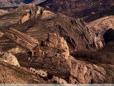 Aliaga, parque geológico en la provincia de Teruel Spain
