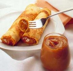 Now these are perfect for breakfast or anytime really! Chilean Panqueques. . .crepes with Manjar~Dulce de Leche
