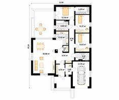 Cytrus 2 projekt domu - Jesteśmy AUTOREM - DOMY w Stylu Floor Plans, House Design, Architecture Design, House Plans, Home Design, Floor Plan Drawing, House Floor Plans, Design Homes