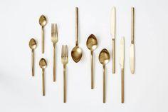 Herdmar Desire Old Gold Cutlery | Artilleriet | Inredning Göteborg