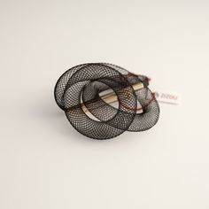 Contemporary cool brooch brass and plastic tube. by ZizouArT