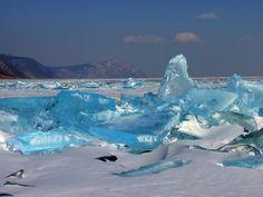 Turquoise Ice at Lake Baikal by Alexey Trofimov