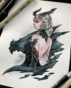 to the last aaaa! Prompt Dragoness Warrior 🔥 Now reminds me of another game I used to play- Tera Online 💕 . You are in the right place about Illustrations pen Here we offer you the most beautiful pictures about the Illustrations flat you are … Art Sketches, Art Drawings, Watercolor Artists, Watercolor Trees, Watercolor Portraits, Watercolor Landscape, Watercolor Painting, Painting Art, Witch Art