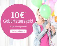 Hier die erste große Überraschung zu unserem 60. Geburtstag - sichert Euch 10€ #Geburtstagsgeld