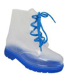 Look at this #zulilyfind! Yokids Blue Leticia Rain Boot by Yokids #zulilyfinds