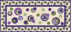 """FREE pattern: """"Simply Lovely Table Runner"""" (from Quilt Trends Magazine)"""
