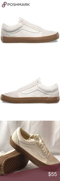 4ad049a75aa8fc Vans Old Skool Suede Canvas White Gum Shoes. Vans Old Skool Suede Canvas