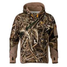 Browning Wicked Wing Smoothbore Fleece Hoodie for Men - Realtree Max-5 - 2XL